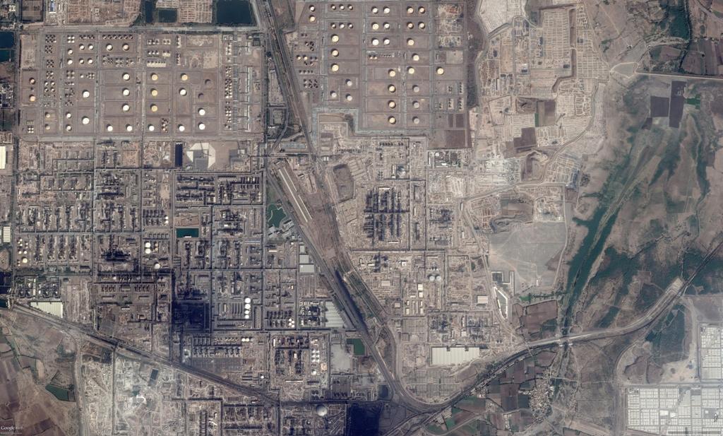 Refinery Plot - Google Earth View